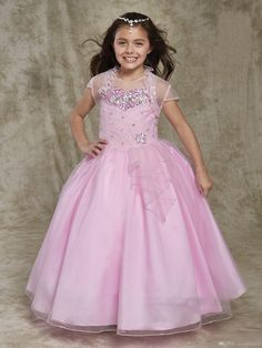 Find More Flower Girl Dresses Information about 2016 Crystal Ball Gown  Flower Girl Dresses with Beading 051ff2d4247f