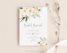 Bridal Brunch Invitation Bridal Luncheon Invitation | Etsy