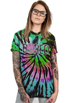 BORED - CUSTOM UNISEX TIE DYE - Teen Hearts Clothing - STAY WEIRD $38
