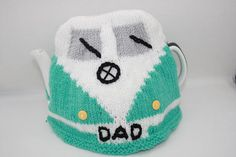VW Camper van tea pot cosy Hand knitted in acrylic yarn Fit 4/6 cup teapot Tea lover gifts Camper van lover gifts Warm wash