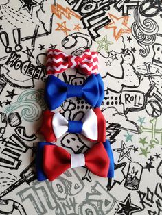Patriotic Dog Cat Pet bowties Can be made in any color or size -  true blue dog bow tie, solid dark bowties for dogs cats - royal blue azure - pet pets accessory- accessories - 4th of July-patriotic outfit - regal blue - Red White & Blue - bow tie collar for cats - fourth of july retro - Red cat collar - Navy Blue - White - Red - Chevron - polka dot bowtie - collars accessories- Wedding accessories - groomsmen- Groom- best man -