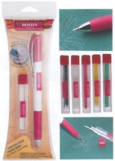 Bohin Chalk Pencil and Refills is one of the best chalk tools I've found for marking quilting lines and designs. The pen includes an eraser and the chalk stays put much longer than other products I've tried.