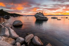 Bonsai Rock during a spectacular display of sunset color in October 2013.