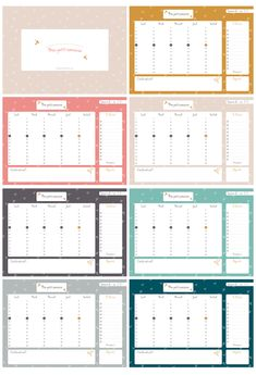 semainier à télécharger - Hellonobo.com Agenda Organization, Organization Bullet Journal, Diy Organisation, Printable Planner, Printables, Free Calendar, Summer Diy, Free Prints, Weekly Planner