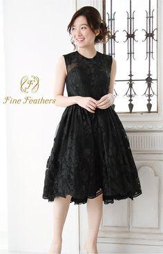 Amazon | (ファインフェザーズ)FineFeathers フォーマルドレス パーティードレス 演奏会ドレス ブラック 7-9号対応 | ワンピース・チュニック 通販