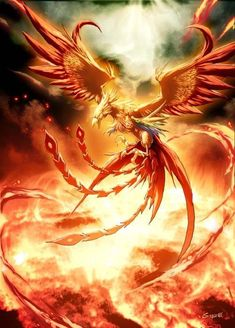 Phoneix - The immortal bird of mythology Phoenix Artwork, Phoenix Wallpaper, Eagle Wallpaper, Phoenix Images, Cute Fantasy Creatures, Mythical Creatures Art, Fantasy Dragon, Dragon Art, Fantasy Paintings