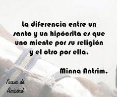 Frases de falsa amistad de Minna Antrim.