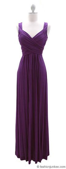 :As Seen In US WEEKLY: Long Crossover Fauxe Wrap Vintage Inspired Jersey Bridesmaid Dress-Dusty Purple ITEM ID: LONG CO WRAP DRL-DPP The perfect dress for any occasion! Great as a bridesmaid dress, beach wedding dress, or a weekend party. Basically great for any event.