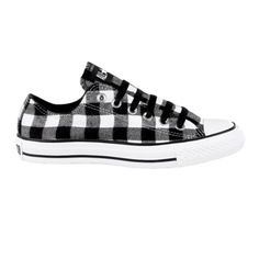 ❥ Converse All Star Lo Athletic Shoe - Black Buffalo Plaid