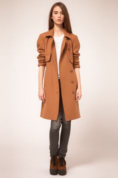 Gestuz Button Down Trench Coat - would like it more in black