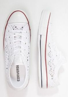 shoes converse low top chuck taylor broderie anglaise sneakers all stars white lace