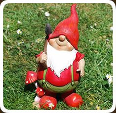 My old trusty gnome is a bit weathered and needs some company. This little guy would do the trick.