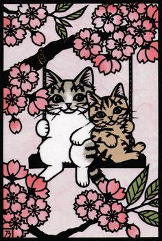 nori's miscellaneous -猫メインの切り絵など-