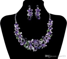 Sexy Bridal Jewelry Sets Flower Alloy Gold And Silver Necklace Earrings Sets Wedding Bridal Accessories Designer Earrings For Wedding Diamond Jewelry Sale From Janet521, $16.59| Dhgate.Com