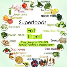 Superfoods! Eat them! They give Peace, Power, & Protection!   #superfoods #foods #health