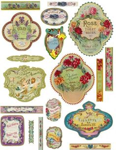 perfume bottle labels - Google Search