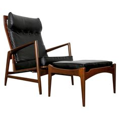 Ib Kofod Larsen Lounge Chair and Ottoman