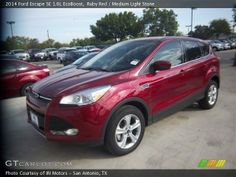 Own it | Ruby Red 2014 Ford Escape SE 1.6L EcoBoost with Medium Light Stone ...