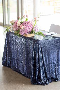 New Wedding Decorations Elegant Blue Sweetheart Table Ideas Blue And Blush Wedding, Blue Wedding Dresses, Gold Wedding, Wedding Table, Wedding Colors, Blush Pink, Dream Wedding, Blue Weddings, Trendy Wedding