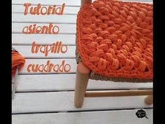 Funda asiento trapillo cuadrado - YouTube