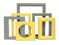 Your place to buy and sell all things handmade Painted Picture Frames, Picture Frame Sets, Nursery Decor, Wall Decor, Grey Home Decor, Yellow Bathrooms, Color Yellow, Wall Collage, Art Photography