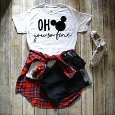 Disney Inspired Funny Mickey ShirtMickey Cute Tshirt White Disney - Funny Kids Shirts - Ideas of Funny Kids Shirts - Disney World Outfits, Cute Disney Outfits, Disney Themed Outfits, Mickey Shirt, Mickey Mouse Outfit, Teen Fashion Outfits, Outfits For Teens, Disney Fashion, Fashion Dresses