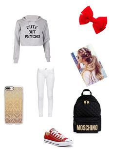 """""""Going to the park or the mall"""" by gisselleotero on Polyvore featuring Converse, rag & bone, Casetify and Moschino"""