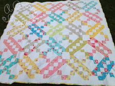 A Quilting Sheep: Jacob's Ladder ~ Finish