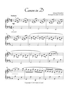 This beautiful intermediate piano arrangement of Pachelbel's Canon in D is the perfect piano solo for weddings and piano recitals. The level of difficulty makes it sound like a professional performance without it being too difficult for intermediate piano players.