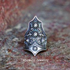 Hey, I found this really awesome Etsy listing at https://www.etsy.com/ca/listing/224122171/itzel-silver-tribal-ring-gypsy-ring