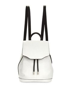 Mini+Pilot+Leather+Backpack,+White+Crackle+by+Rag+&+Bone+at+Neiman+Marcus.
