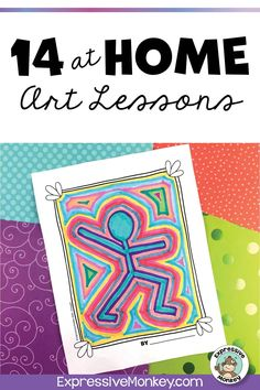 This set of 14 art lessons are perfect for your home learning packet that can be used for distance learning during school closures such as snow days and calamity days. Each instruction page is condens Elementary Art Rooms, Art Lessons Elementary, Elementary Art Education, Elementary Teaching, Art Lessons For Kids, Art Activities For Kids, School Art Projects, Art Education Projects, Art Education Lessons