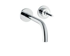 Axor Uno Single lever basin mixer for concealed installation with spout 225 mm and escutcheons wall-mounted