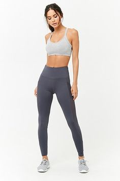 Energetic Mesh Panel Leggings On Cute Workout Outfits, Workout Attire, Sporty Outfits, Mode Outfits, Female Pose Reference, Pose Reference Photo, Mesh Panel Leggings, Figure Poses, Poses References