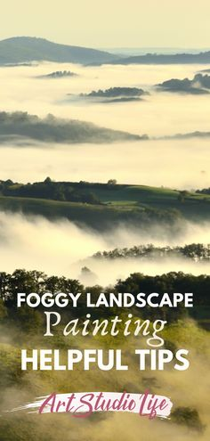 Have you ever seen a foggy landscape and wish you could capture it's fantastical-like, ethereal quality?? Here are foggy painting tips that will show you how to approach painting fog and mist - so that you can begin to create stunning foggy landscape paintings of your own! Painting Edges, Painting Tips, Plein Air Easel, Romantic Artwork, Misty Day, Realistic Paintings, Winter Landscape, Learn To Paint, Ethereal