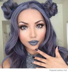Grey hair and makeup