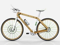 BKR Ecoframe Bicycle - Carbon fiber bikes are all the rage these days, but less processed materials like wood are certainly able to do the job. The BKR Ecoframe Bicycle m. Wooden Bicycle, Wood Bike, Tricycle, Pedal, Urban Bike, Bike Style, Bike Frame, Cool Bicycles, Bicycle Accessories