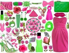 Delta Zeta; perfectly pink and green!