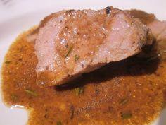 This is the BEST pork tenderloin marinade and sauce...EVER.  Dimples & Delights: Pork Tenderloin with Balsamic Mustard Sauce