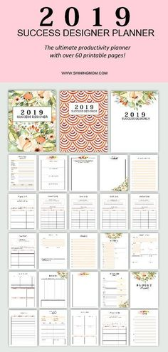 The 2019 Success Designer The Ultimate Productivity Planner Planner Pages Planner Printables Free Planner Organization