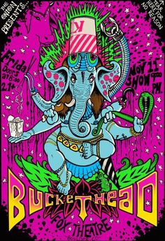 Original concert poster for Buckethead at the Fox in Boulder, CO. 13