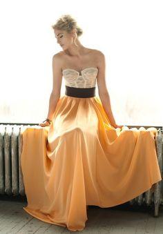 Bustier. Maxi skirt. Belt. BAM! ;)