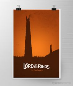 Fresh Lord of the Rings posters by Andrés Asencio, via Behance