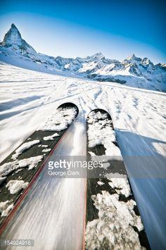 Stock Photo : Skiing Action