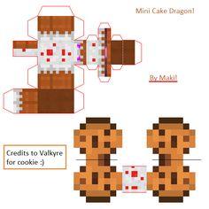 Papercraft Mini Cake Dragon!