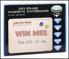 Enter to #win a DiamondTab Dry Erase Magnetic Whiteboard!