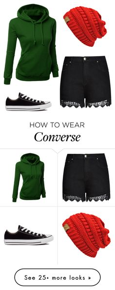 """""""Red Over"""" by laura-27777 on Polyvore featuring Converse and City Chic"""