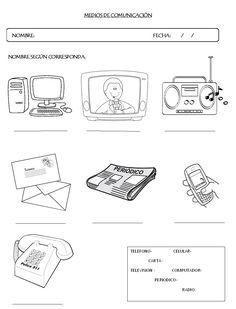 Resultado de imagen para actividades sobre los medios de comunicacion para niños