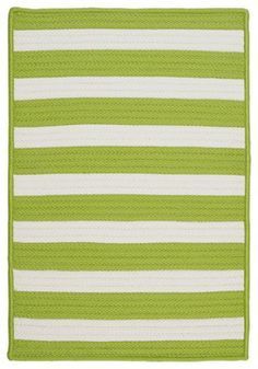 Stripe It, Bright Lime Rug, Sample Swatch - contemporary - rugs - Colonial Mills, Inc