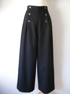 Vintage Henri Bendel Sailor Slacks